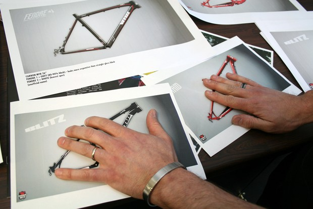 Vitus designer Brant Richards is keeping his new full-supension bikes under wraps...