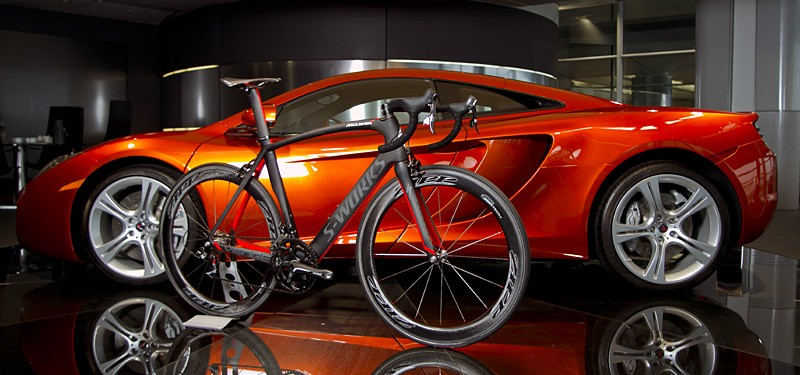 Specialized McLaren Venge with a real live McLaren