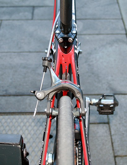 The rear end of Cavendish's Specialized McLaren Venge