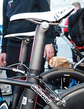 Plenty of interest around the Venge: this is eventual Milan-San Remo winner Matt Goss's bike