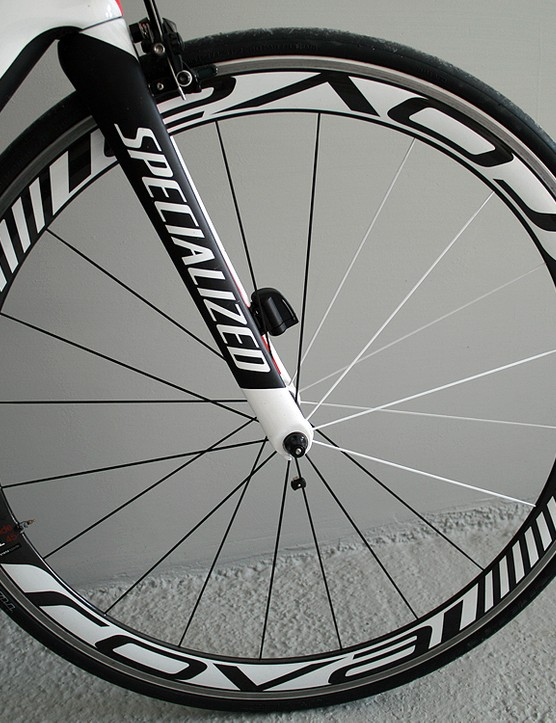 Roval Rapide SL 45 front wheel with S-Works Turbo tyres