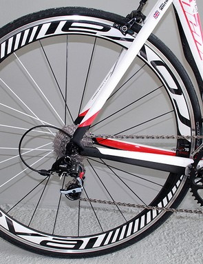Roval Rapide SL 45 rear wheel with S-Works Turbo tyres