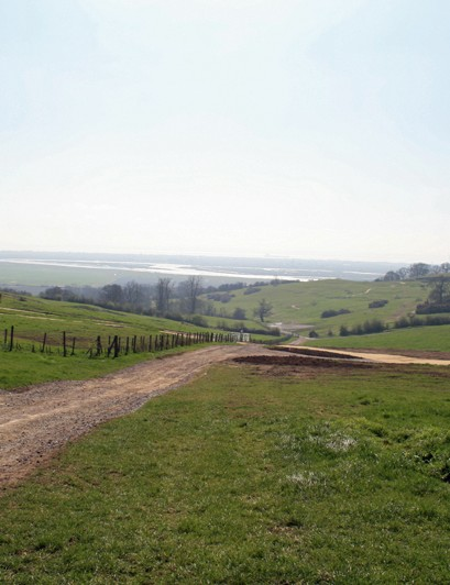 View of the site from the top of the hill
