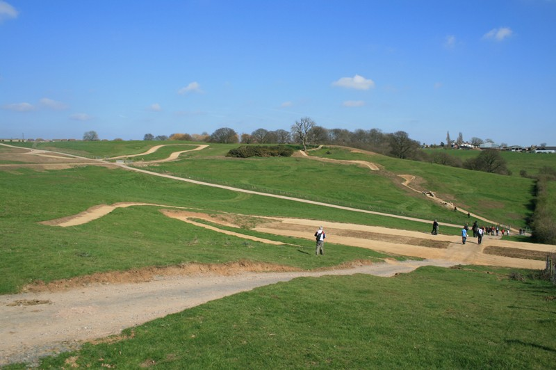 To the right of this picture is the course's fastest descent, accessed via a grassy ascent nicknamed 'Cardiac Climb'