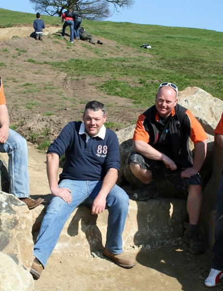 Martin Seddon, left, and his team of course builders