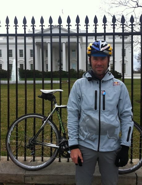 Tim Johnson in front of the White House