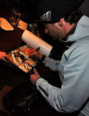 According to Fries, Johnson signed every autograph, took every photo and shook every hand during his Ride On Washington