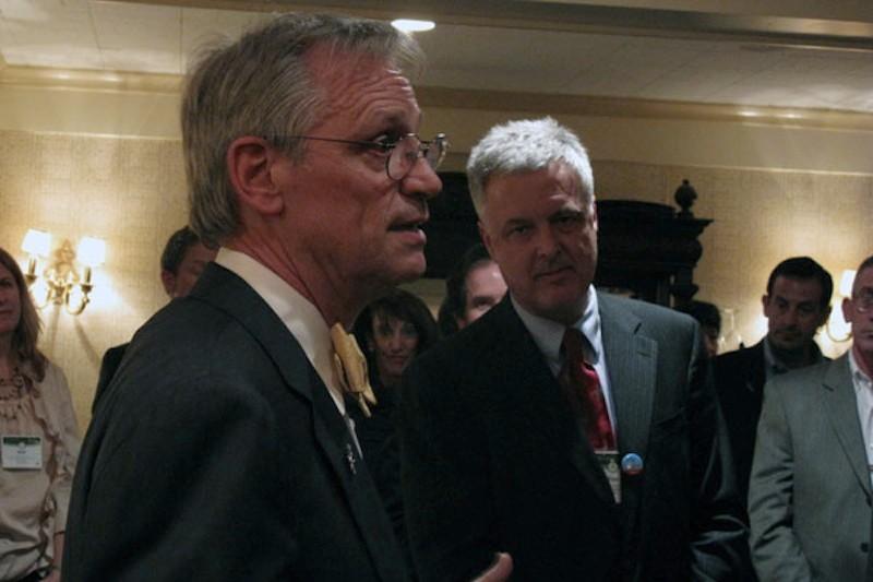 Congressman Earl Blumenauer (D-OR), and the president of Bikes Belong, Tim Blumenthal