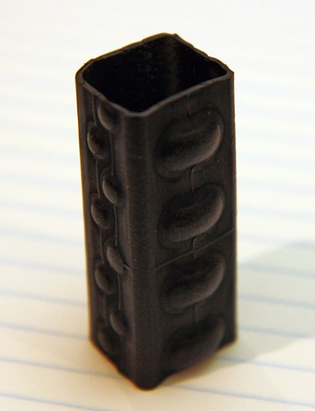 The bumpy surface supposedly improves the air retention after a puncture on Michelin's new Protek Max tube while the square cross-section is said to ease installation