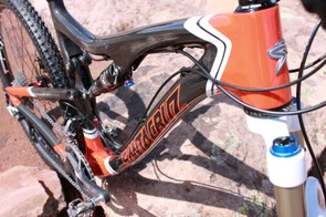 The swoopy frame packages cross-country weight with slack all-mountain angles