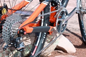The TRc relies on a standard quick-release rear end, which Santa Cruz say is plenty stiff due to its one-piece design