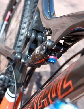 Like all of Santa Cruz's carbon VPP bikes, all of the shock and linkage anchor points are molded from carbon only