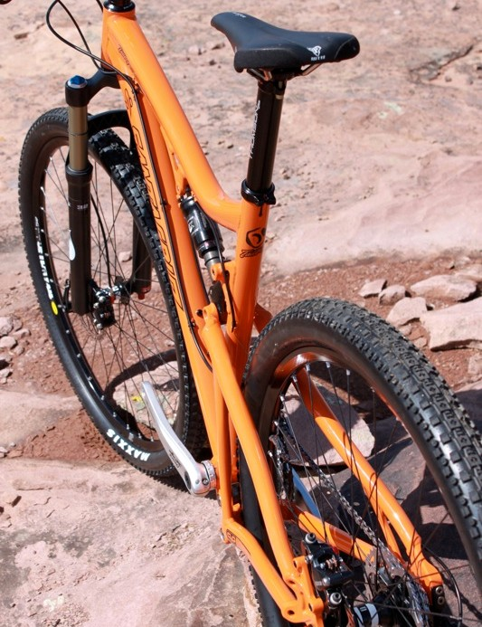 Big wheels and 4in of VPP suspension travel have made the carbon Tallboy very popular