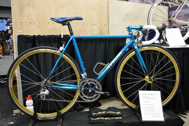 Annoura brought this lugged criterium bike all the way from Japan for NAHBS
