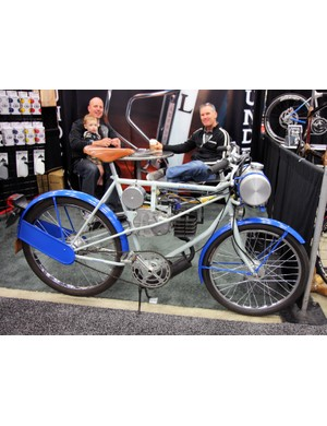 Arundel may be best known for their carbon fiber bottle cages but it was their motorized derny bike that drew all the attention at NAHBS