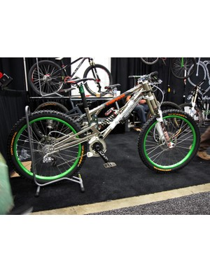 Bicycle Innovations had the only true downhill bike at this year's NAHBS