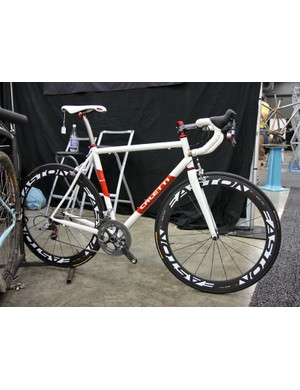 Caletti brought this keen looking road racer to NAHBS