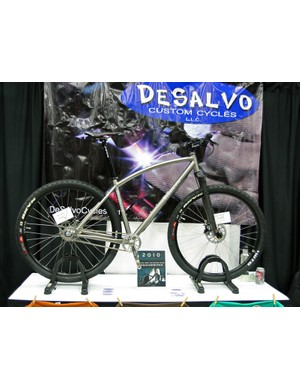 DeSalvo also showed off this neat titanium singlespeed 29er with a slightly bowed top tube