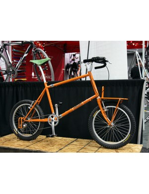 This small-wheeled utility/travel bike was among the interesting offerings displayed in the Gallus booth at NAHBS