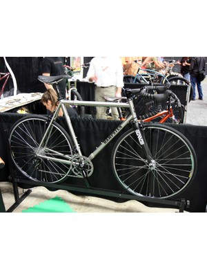 Steve Hampsten (Andy's brother) built this S&S titanium road bike for California-based cycling journalist Bruce Hildenbrand