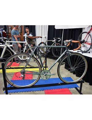 Hampsten showed an impressive collection of bikes at NAHBS, incluidng this lugged steel dirt road bike
