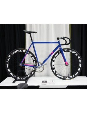 Ligor came to town with this steel track bike