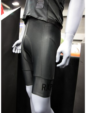 The matching Rapha pro shorts use a slimmer chamois and wide leg bands