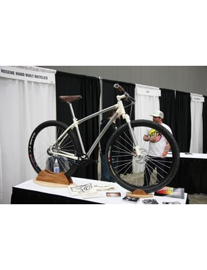 New builders Rosene showed off this gorgeous lugged stainless steel singlespeed