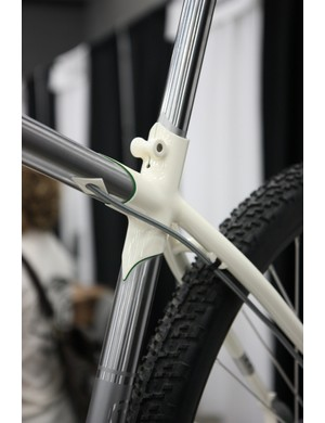 The seat cluster on this Rosene uses a combination of lugged and fillet brazed construction