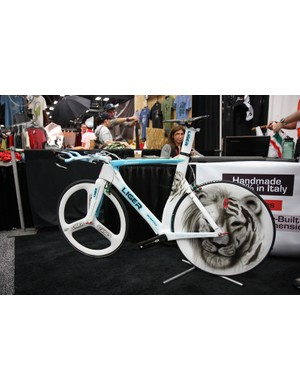 The Liger lives in Sarto's uniquely painted time trial bike