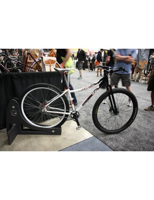 True Fabrication's booth included this nicely painted singlespeed