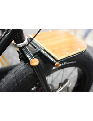 Watson Cycles not only used a wooden deck but also capped the tube ends with wooden plugs