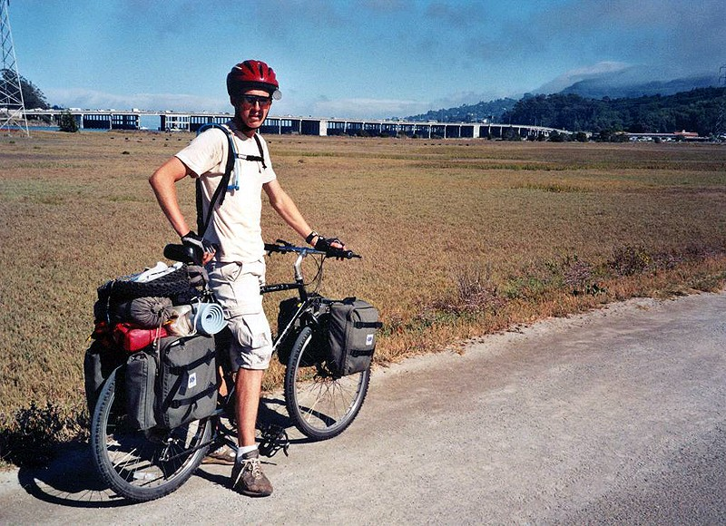 On his first tour down the California coast in 2001