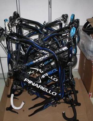 The team's Roubaix bikes