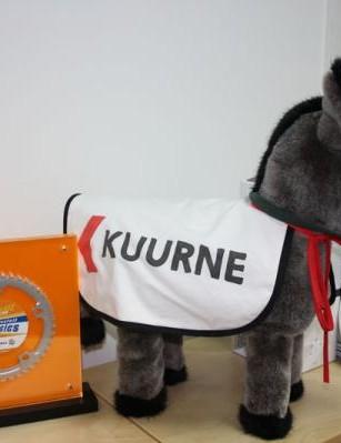 CJ Sutton's donkey from his Kuurne-Brussels-Kuurne win earlier in the season