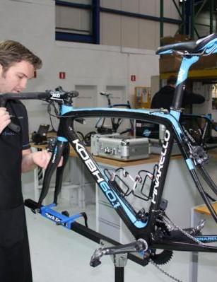 Tisma works on Wiggins' Roubaix ride
