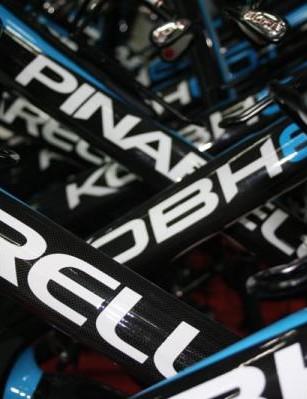 Team Sky's Paris Roubaix bikes