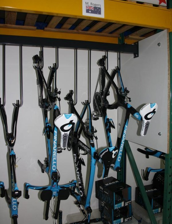 Michael Rogers's road and time trial machines