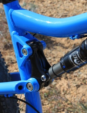 Our test model came equipped with Fox's RP23 rear shock