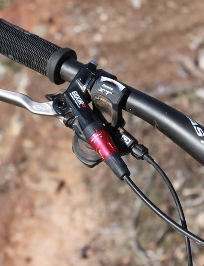 Avid's Elixir CR works well when bled properly; Shimano's XT drivetrain was flawless during our testing