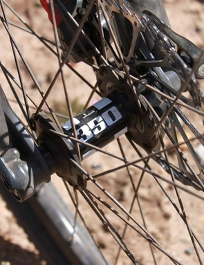 Santa Cruz uses a custom wheelset with DT Swiss 350 hubs...