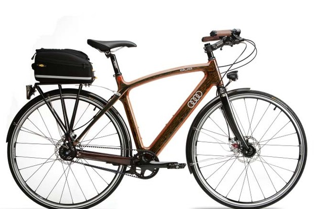 Audi duo City's drivetrain features the Gates CenterTrack belt drive coupled to the Shimano Nexus 8-speed internal hub gear