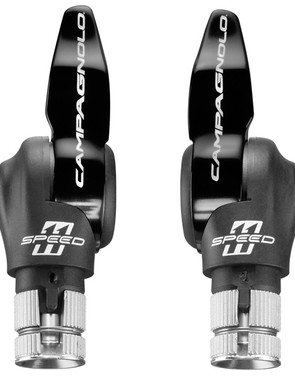 Campagnolo 11-speed aluminium time trial bar-end shifters