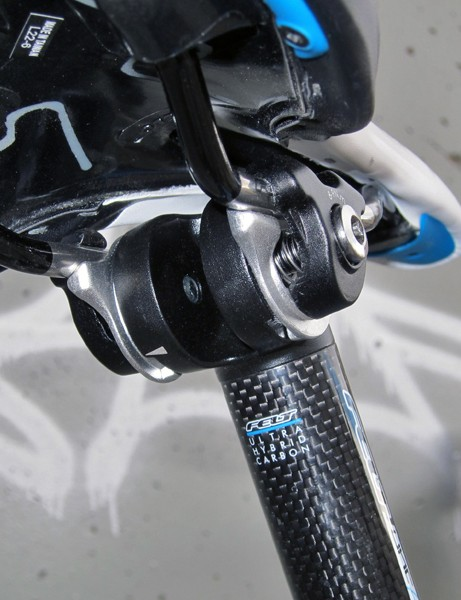 The seatpost head is functional but disappointingly clunky in both operation and aesthetics