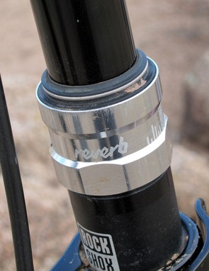 The Reverb's seal head is essentially the same as the top of one of RockShox's suspension forks with a so-called