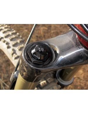 RockShox's unique Dual Air spring system uses a pair of opposing air chambers for a remarkably broad tuning range.  That being said, be prepared to spend some time dialing it in, though