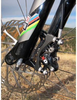 Post mount disc tabs ease caliper installation