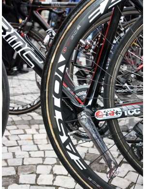 Some BMC riders ran Roubaix-style wheels for Ronde van Vlaanderen.  While the rims bore big