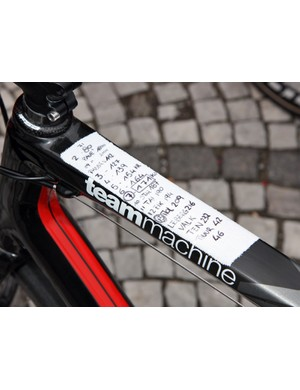 A lot of bikes at Ronde van Vlaanderen sported little crib sheets to help keep track of key sections.
