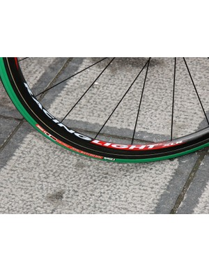 Vittoria's 24mm-wide Pave Evo-CG are very popular with teams during the spring classics.